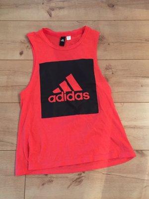Adidas Sportshirt zalm-lichtrood