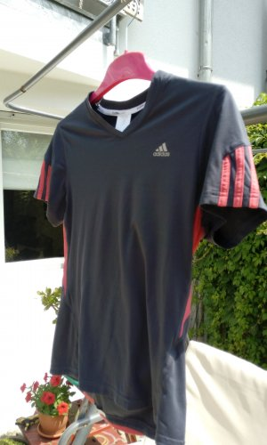 Adidas Camisa deportiva gris antracita-rojo frambuesa