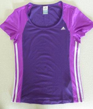 adidas Sport-Shirt in Aubergine-Magenta