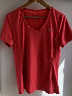 Adidas Sports Shirt bright red mixture fibre