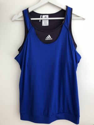 Adidas Débardeur de sport bleu-gris violet polyester