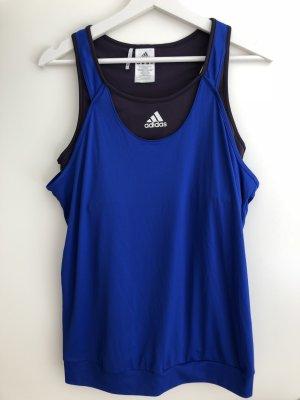 Adidas Sporttop blauw-grijs-paars Polyester