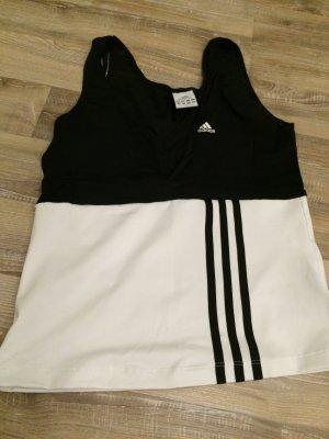 Adidas Sport top schwarz weiß