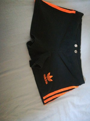 Adidas Short de sport noir-orange fluo