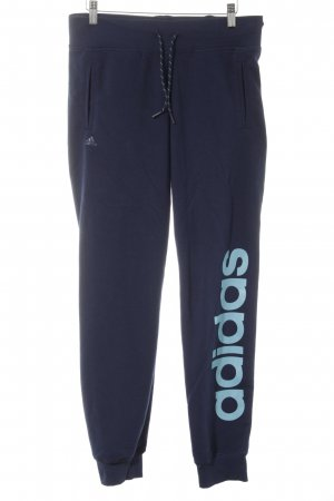 Adidas Pantalon de sport bleu foncé style simple