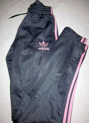 Adidas Sporthose dunkelgrau anthrazit rosa Streifen Jogginghose Legging Hose Sport 34 36 XS S