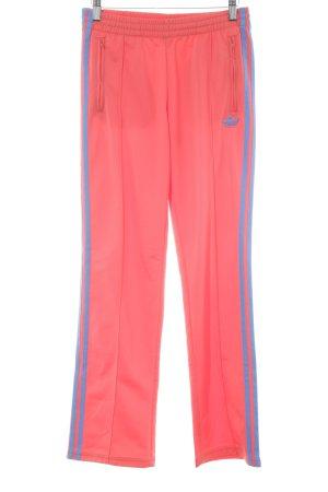 Adidas Sporthose dunkelorange-blau Streifenmuster sportlicher Stil
