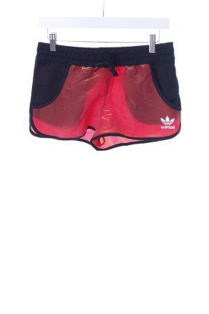 Adidas Sporthose dunkelorange-schwarz Logoprint