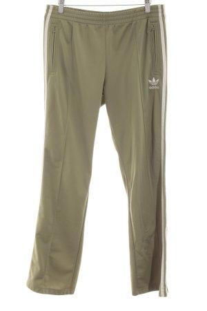 Adidas Sporthose grüngrau-weiß Casual-Look