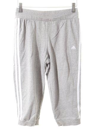 Adidas Sporthose hellgrau-weiß sportlicher Stil