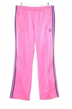 Adidas Trackies magenta-dark violet striped pattern athletic style