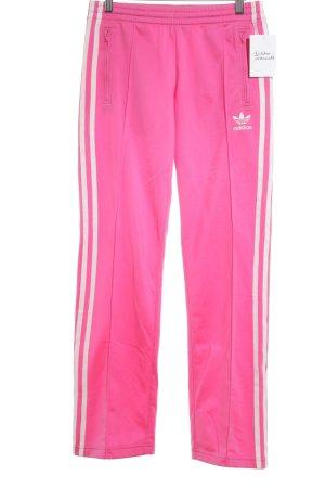Adidas Sporthose pink-weiß sportlicher Stil