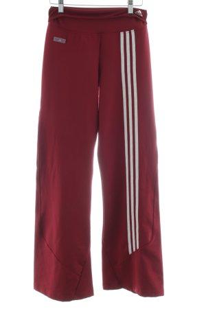 Adidas Sporthose rot Streifenmuster Casual-Look