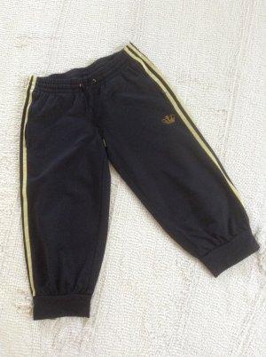 Adidas Pantalón corto deportivo negro-color oro