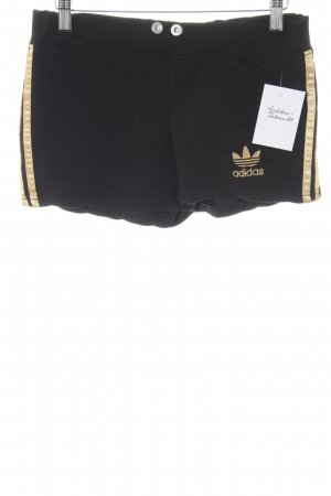 Adidas Sporthose schwarz-goldfarben Casual-Look