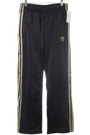 Adidas Sporthose schwarz-goldfarben sportlicher Stil