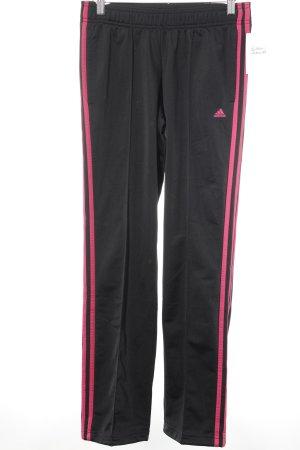 Adidas Sporthose schwarz-magenta sportlicher Stil