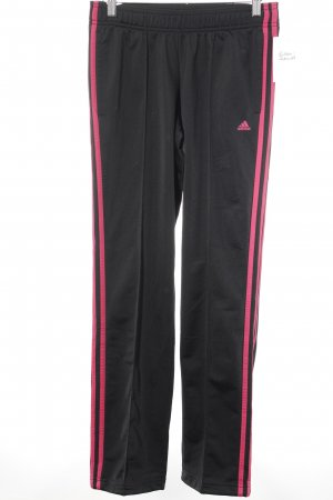 Adidas Trackies black-magenta athletic style