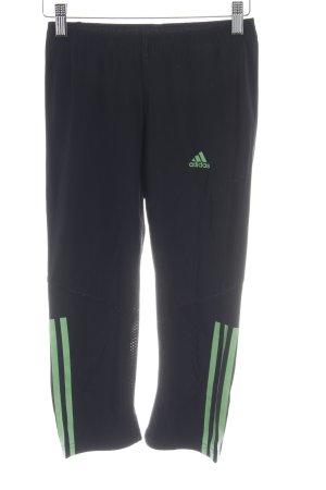 Adidas Sporthose schwarz-neongrün sportlicher Stil