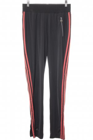 Adidas Trackies black-neon red athletic style