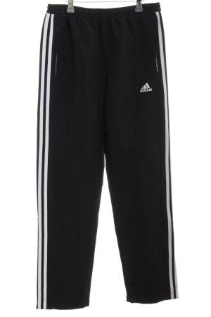 Adidas Sportbroek zwart-wit atletische stijl