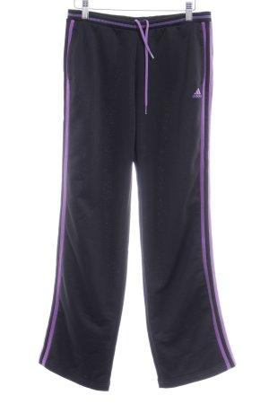 Adidas Sporthose schwarz Streifenmuster sportlicher Stil