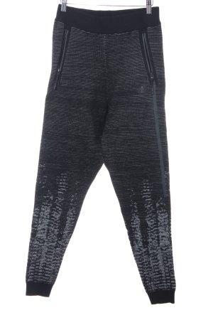 Adidas Sporthose schwarz-weiß meliert sportlicher Stil