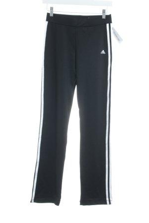 Adidas Sporthose schwarz-weiß Streifenmuster Casual-Look