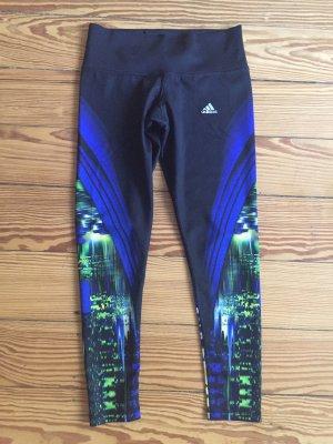 adidas Sporthose Trainingshose Damen lang blau - S