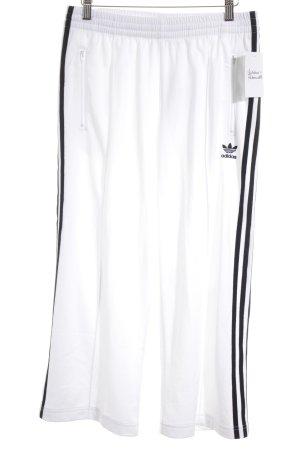 Adidas Sporthose weiß-schwarz Casual-Look