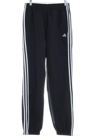 Adidas Pantalone da ginnastica bianco-nero caratteri stampati stile casual