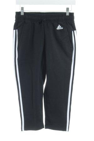 Adidas Sporthose weiß-schwarz Streifenmuster Boyfriend-Look