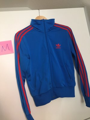 Adidas Giacca sport blu-rosso