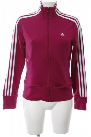 Adidas Sports Jacket red-white striped pattern simple style