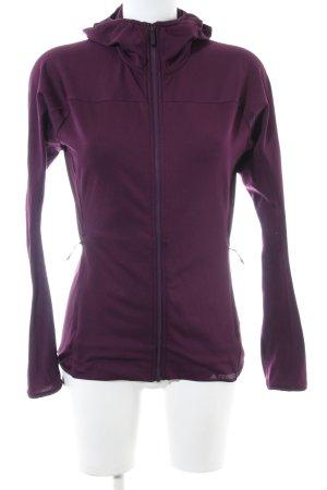 Adidas Sportjacke lila Casual-Look