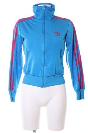 Adidas Sportjacke blau-rot Casual-Look
