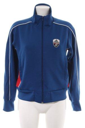Adidas Sportjack blauw atletische stijl
