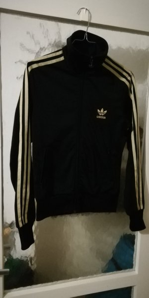 Adidas Sports Jacket black-sand brown synthetic fibre
