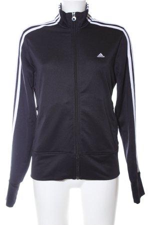 Adidas Sportjack zwart-wit prints met een thema atletische stijl