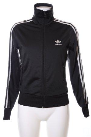 Adidas Sports Jacket black-white casual look