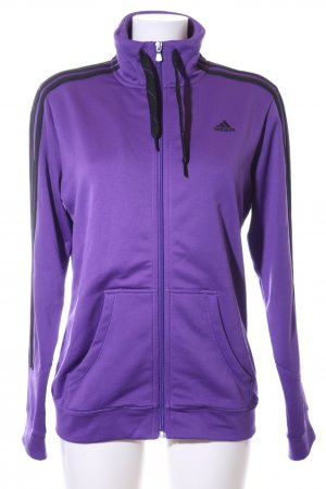 Adidas Sportjacke lila-schwarz Casual-Look