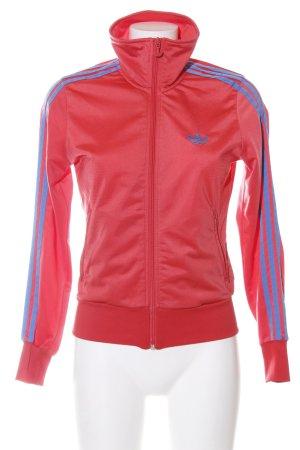 Adidas Sportjacke rot-blau Casual-Look