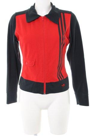 Adidas Sportjacke schwarz-rot sportlicher Stil