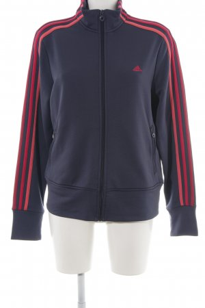 Adidas Sports Jacket blue-red embroidered lettering athletic style