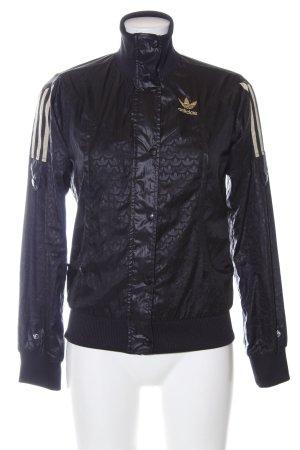 Adidas Sportjacke schwarz Allover-Druck Casual-Look