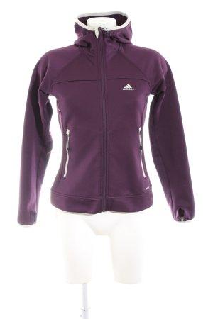 Adidas Sportjacke lila sportlicher Stil