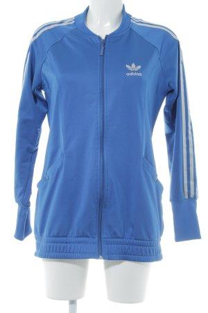 Adidas Sportjacke blau-silberfarben sportlicher Stil
