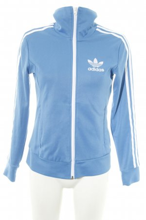 Adidas Giacca sport blu-bianco caratteri stampati stile semplice
