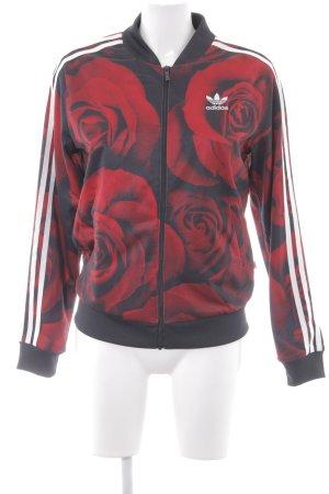 Adidas Sportjack bloemenprint romantische stijl
