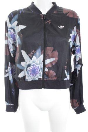 Adidas Sportjack bloemenprint vintage uitstraling